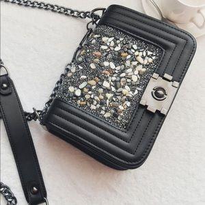 ZAFUL Faux Leather Chain Crossbody Bag